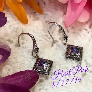 Jewelry - SS Amethyst Earrings